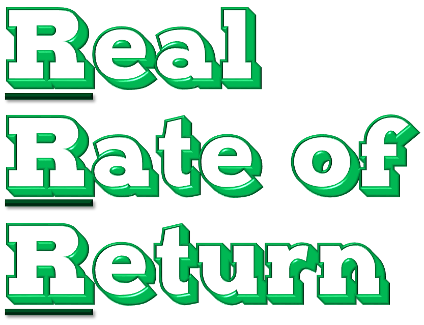 Know the 3 R's of Personal Finance… Real Rate of Return